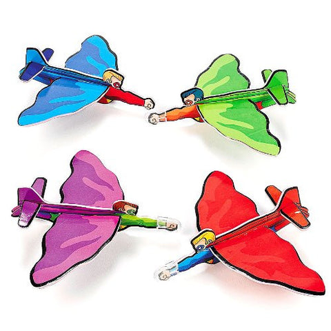 Two Dozen Superhero Gliders 6 inches long