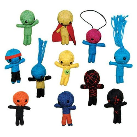 Voodoo String Dolls Set of 11 ** 2.5 Inches **