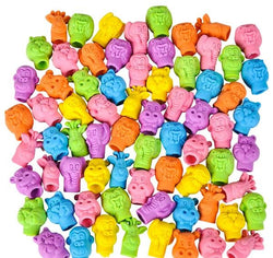 Zoo Animal Pencil Top Erasers -One Gross - 144 Erasers