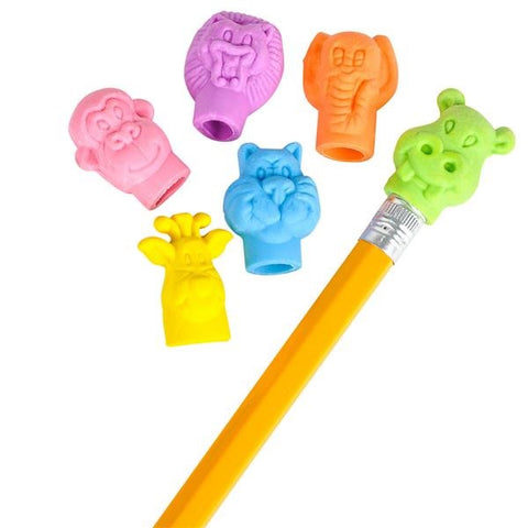 Zoo Animal Pencil Top Erasers - (48 Erasers)