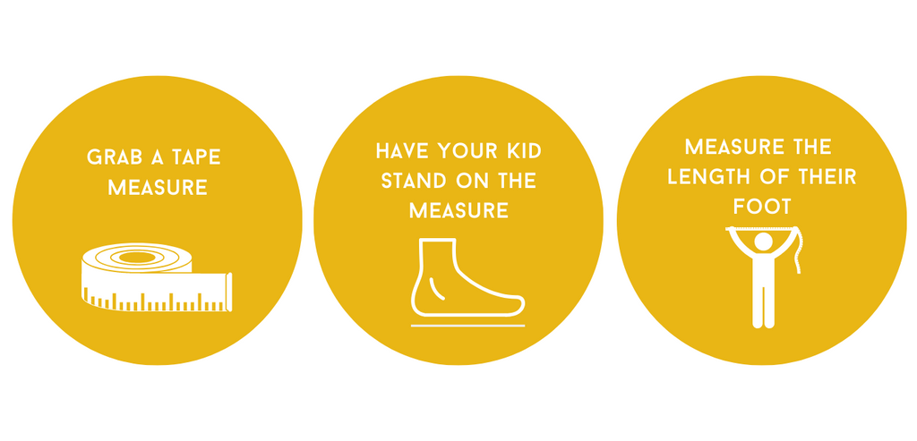 How to measure the length of your kid's foot