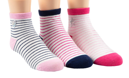 Stride Rite Sophie Sequin Patches 3-Pack socks
