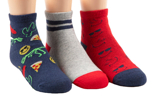 Stride Rite Gilmore graphic 3-pack socks
