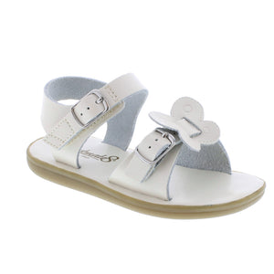 Footmates Monarch bone pearl kids sandals