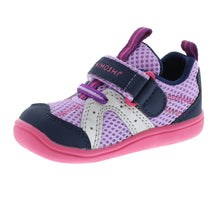 Load image into Gallery viewer, Tsukihoshi marina lavender navy toddler sneakers