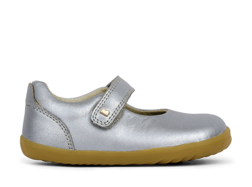 Bobux Delight silver mary jane shoe