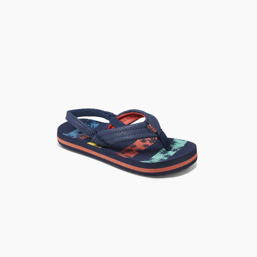 Reef Little Ahi Palm Stripe Flip Flop Sandals