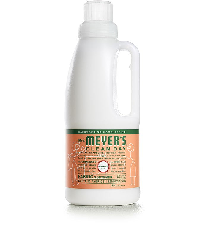 Mrs. Meyer's Softener Geranium 32oz/6pk