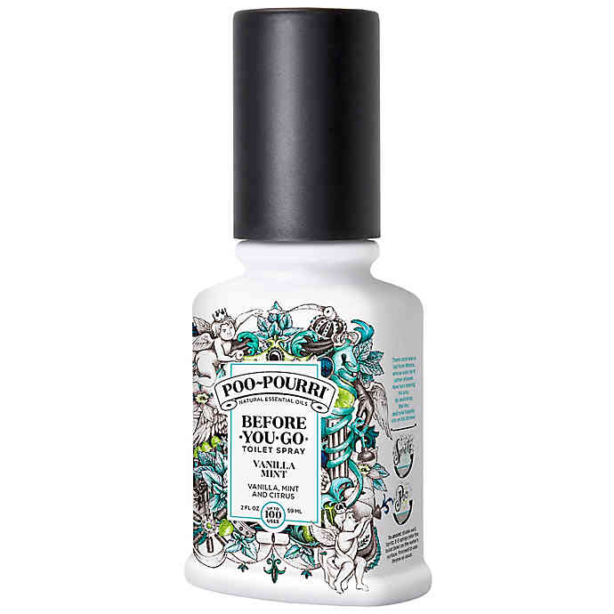 Poo-Pourri Before-You-Go Toilet Spray Vanilla Mint Scent-2oz/72pk