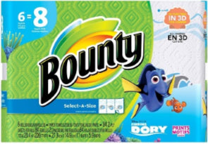 Bounty BIG ROLLS SAS Dory Print - 84ct/6pk