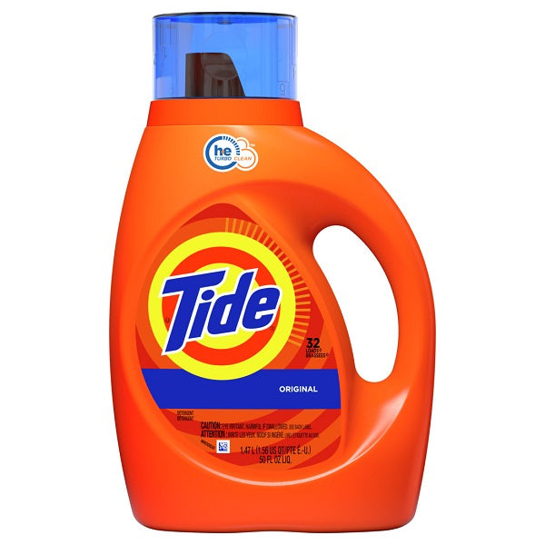 Tide Liq. 2x HE Original (32 loads) - 50oz/6pk