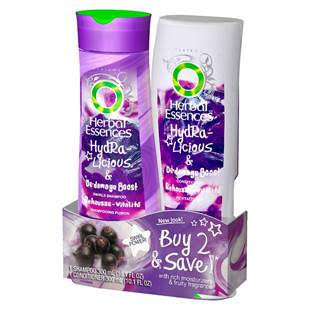 Herbal Essences Hydralicious Boost SH/CN Twin-10.1oz/4pk