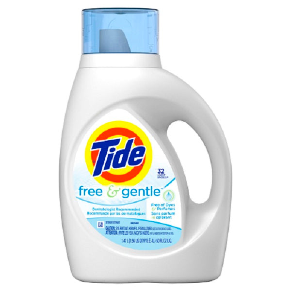 Tide Liq. 2X Free 32 loads - 50oz/6pk