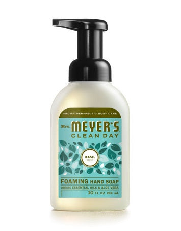 Mrs. Meyer's Foaming Hand Soap Basil - 10oz/6pk