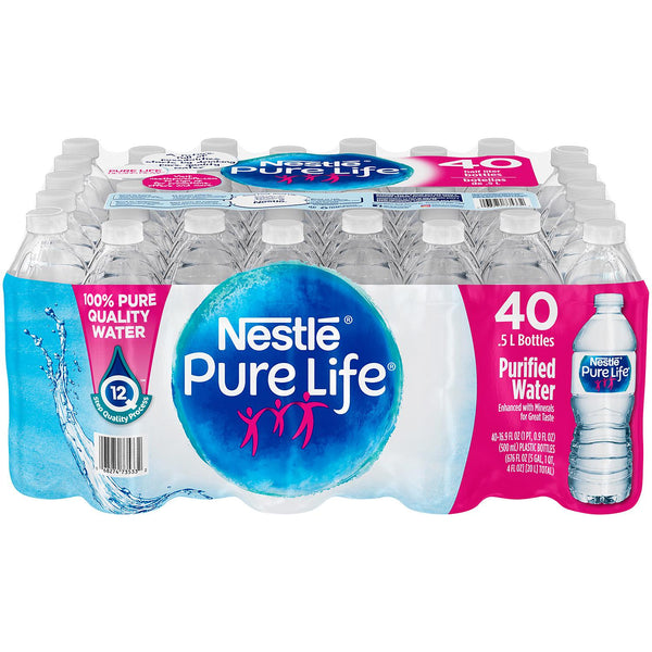 Nestle Pure Life Water - 16.9oz/40pk