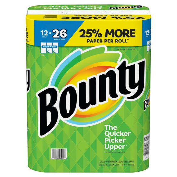 Bounty Plus Paper Towels SAS-92ct/12pk