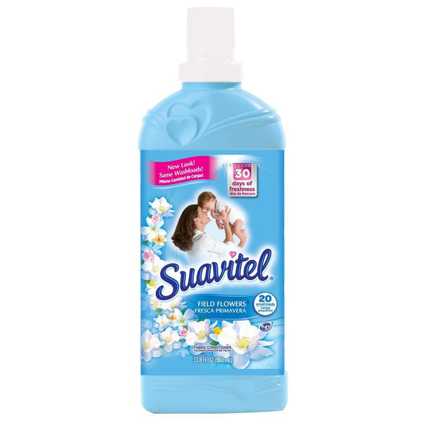 Suavitel Fabric Softener Field Flowers Blue - 33.8oz/12pk