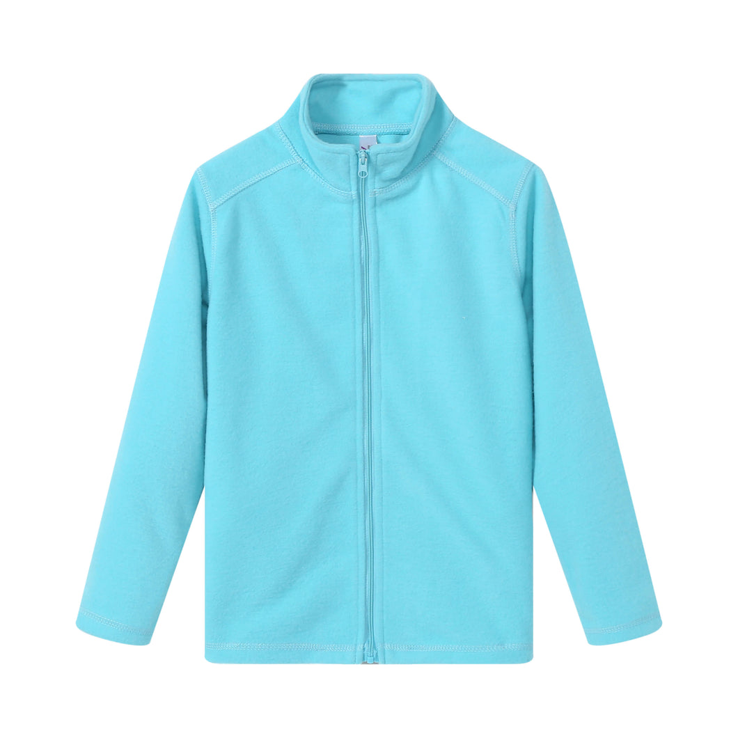 GIRLS L/S Full Zip Poly Fleece Jacket - Aqua