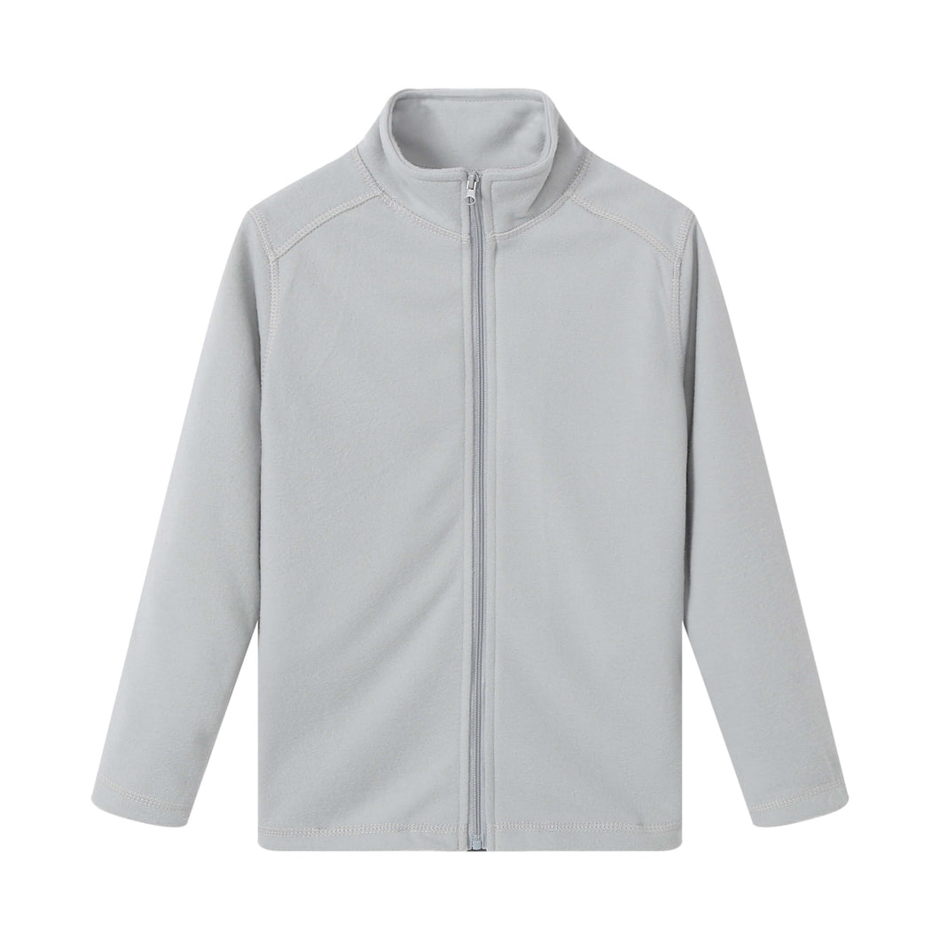 UNISEX L/S Full Zip Poly Fleece Jacket - Heather