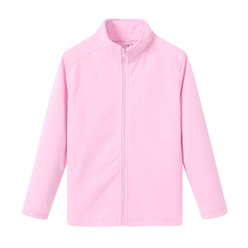 GIRLS L/S Full Zip Poly Fleece Jacket - Pink