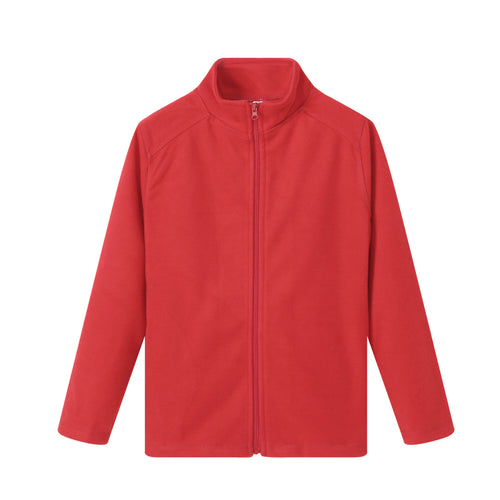 UNISEX L/S Full Zip Poly Fleece Jacket - Red