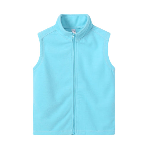 GIRLS S/L Fleece Full Zip Vest Aqua