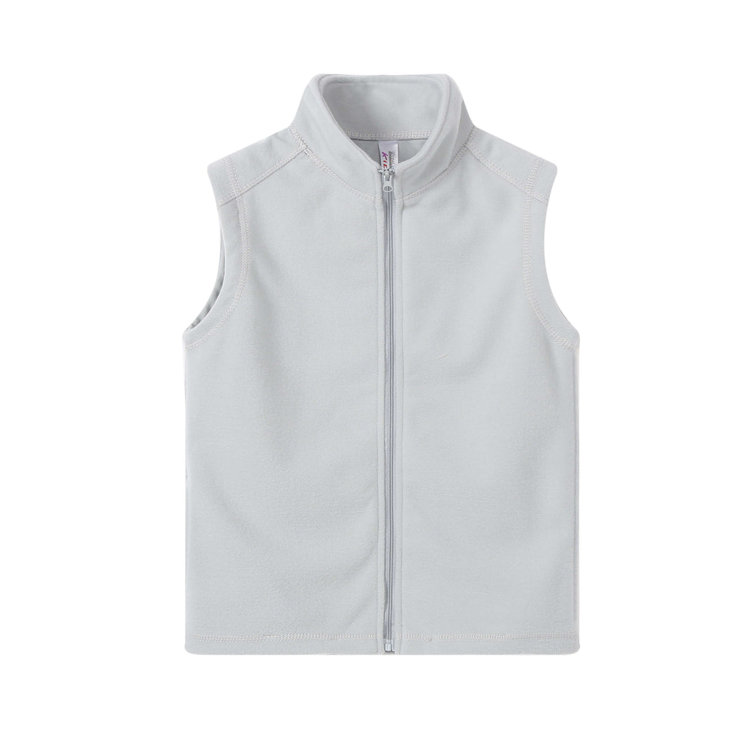 UNISEX S/L Fleece Full Zip Vest Heather