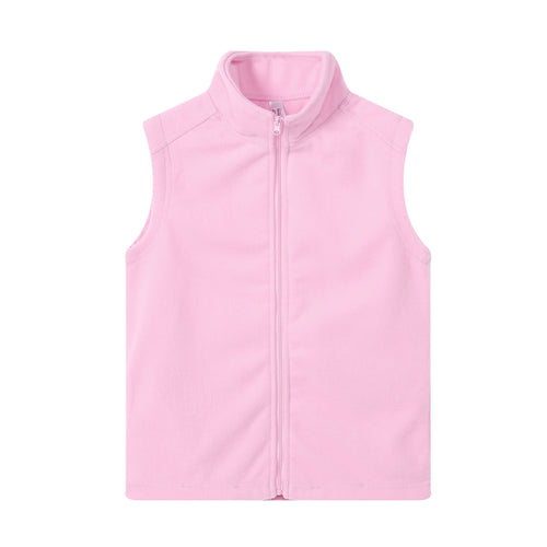 GIRLS S/L Fleece Full Zip Vest Pink
