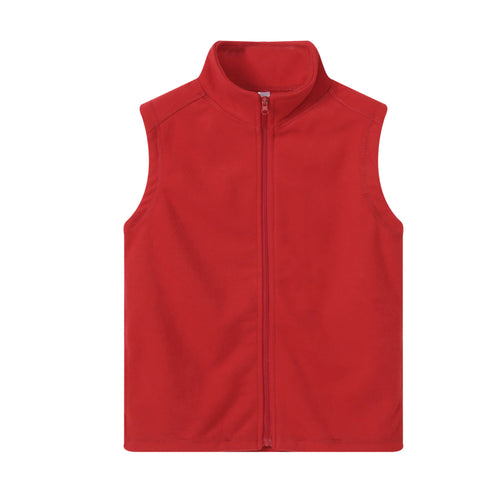 UNISEX S/L Fleece Full Zip Vest Red