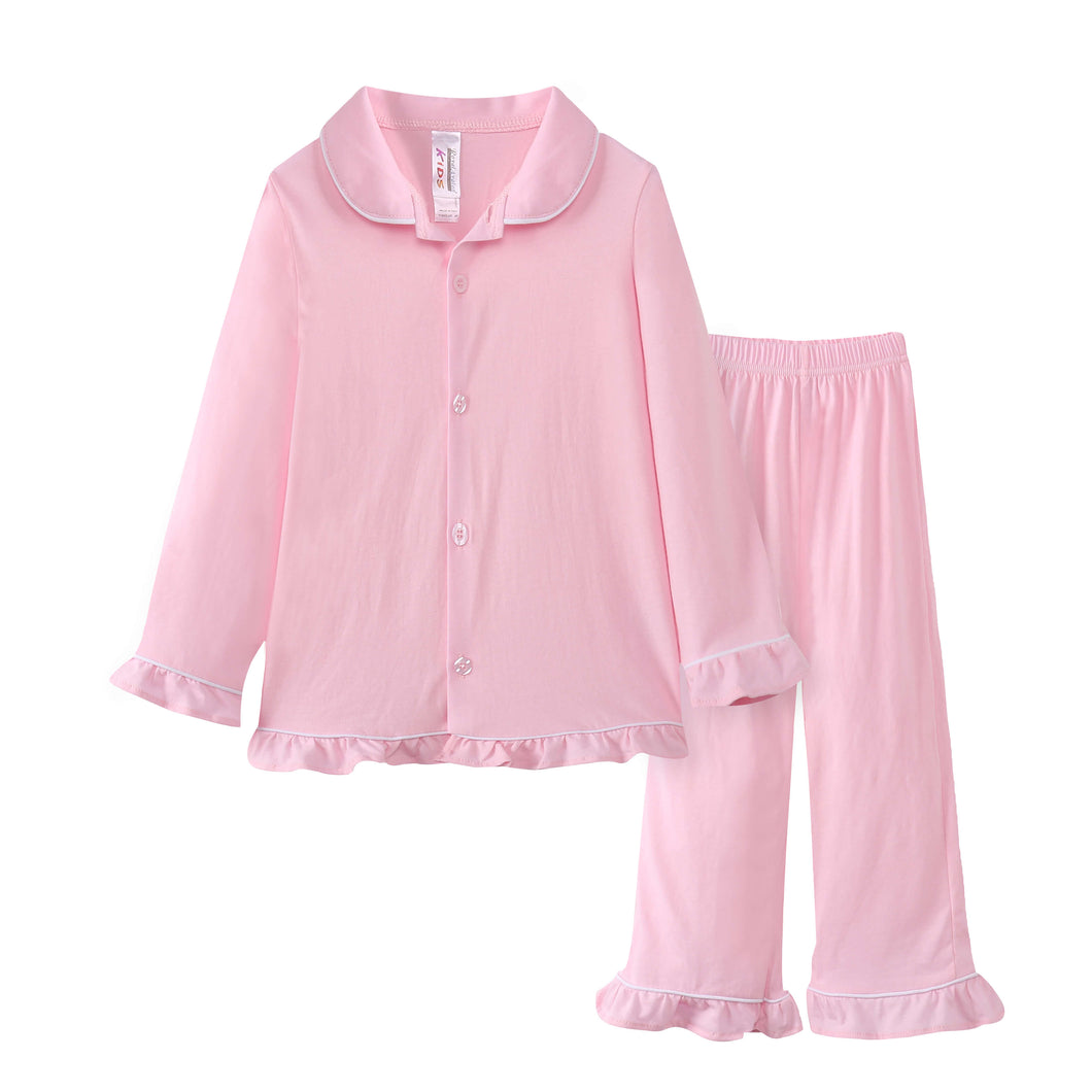 GIRLS 2pc Pajama Set - Pink