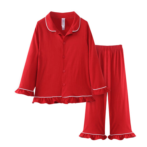 GIRLS 2pc Pajama Set - Red