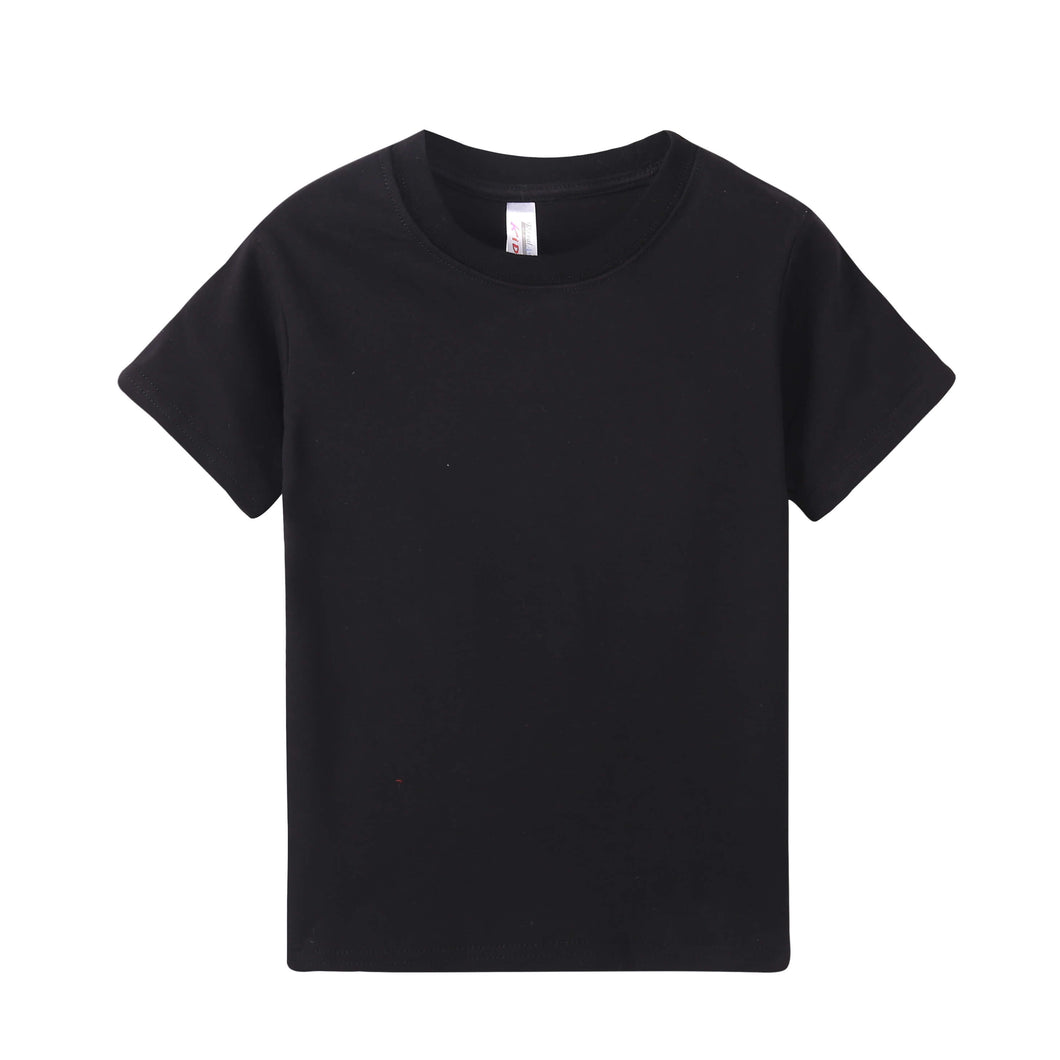TODDLER Heavy 100% Cotton S/S Tee - Black
