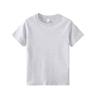 TODDLER Heavy 100% Cotton S/S Tee - Heather Grey