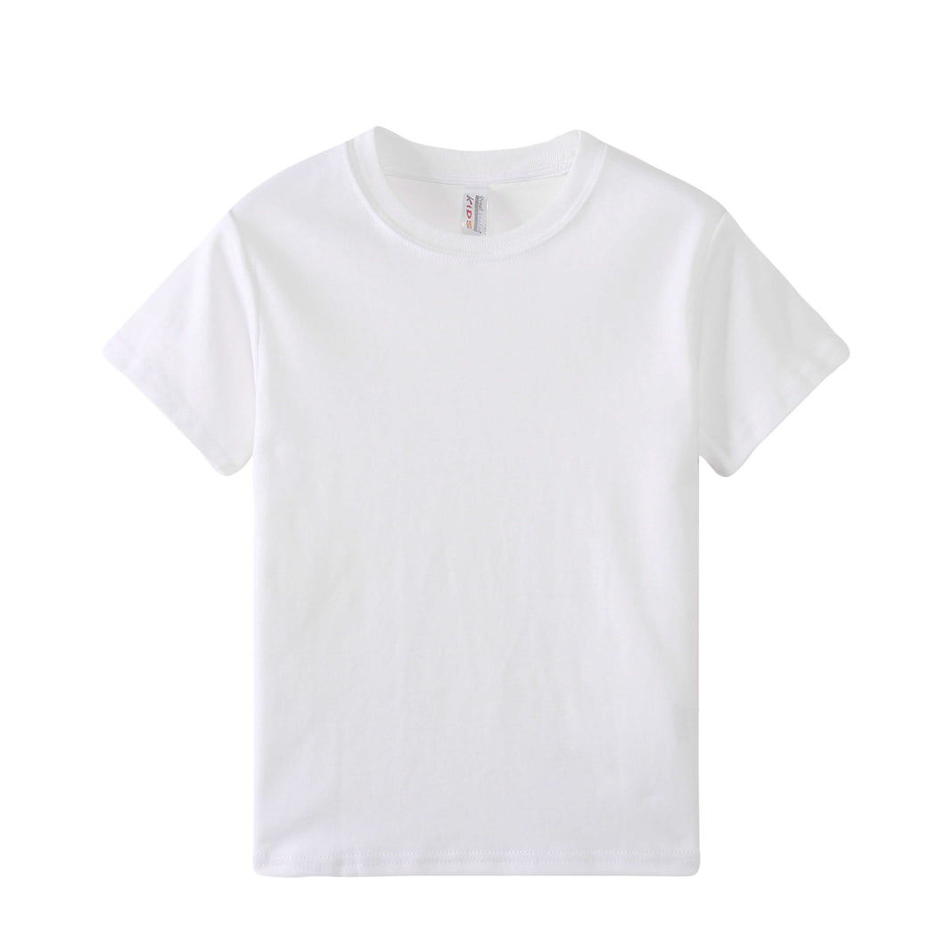 TODDLER Heavy 100% Cotton S/S Tee - White