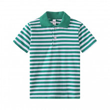 Load image into Gallery viewer, TODDLER S/S 100% Cotton Striped Polo - Green