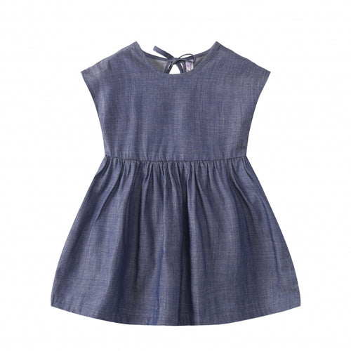 TODDLER Denim Sleeveless Dress Dark Wash