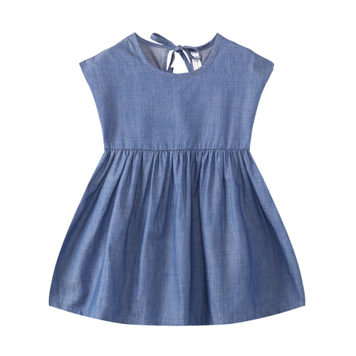TODDLER Denim Sleeveless Dress Light Wash
