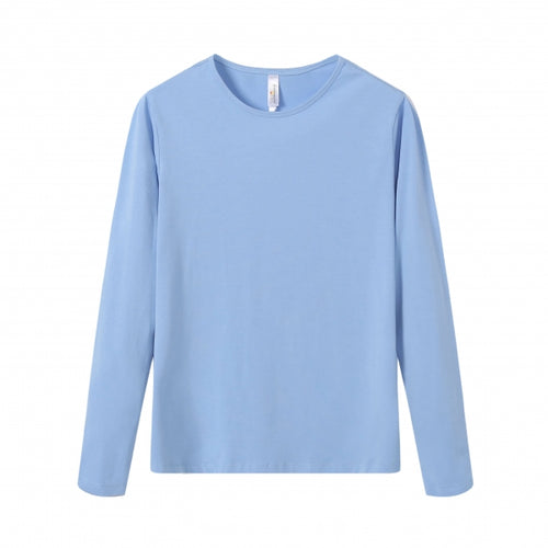WOMENS Bamboo Cotton L/S Tee | UPF Protection Shirt - Sky Blue