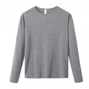 WOMENS Bamboo Cotton L/S Tee | UPF Protection Shirt - Heather Grey