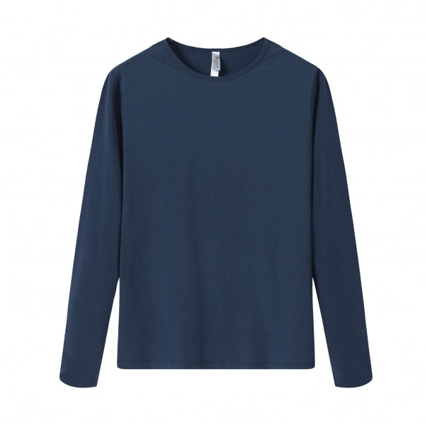 WOMENS Bamboo Cotton L/S Tee | UPF Protection Shirt - Navy