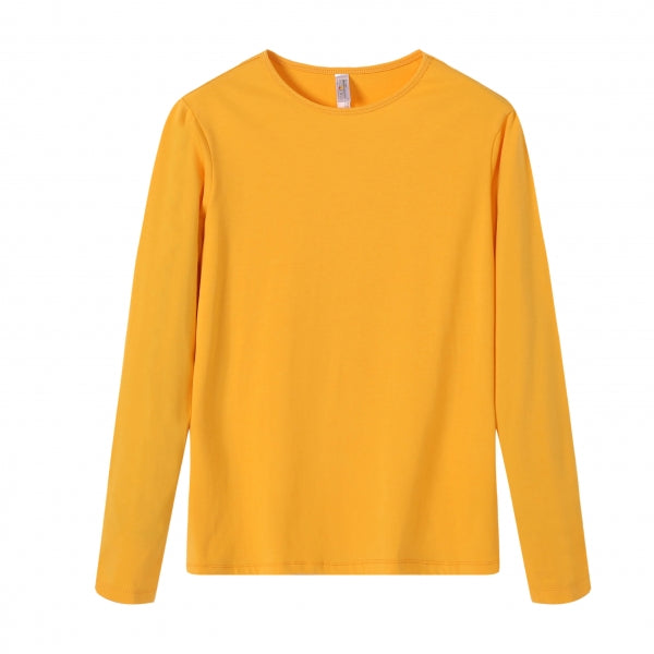 WOMENS Bamboo Cotton L/S Tee | UPF Protection Shirt - Orange