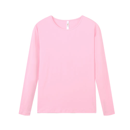 WOMENS Bamboo Cotton L/S Tee | UPF Protection Shirt - Pink