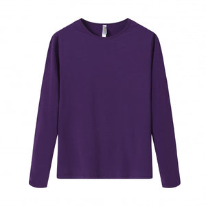 WOMENS Bamboo Cotton L/S Tee | UPF Protection Shirt - Purple
