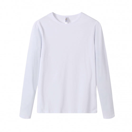 WOMENS Bamboo Cotton L/S Tee | UPF Protection Shirt - White