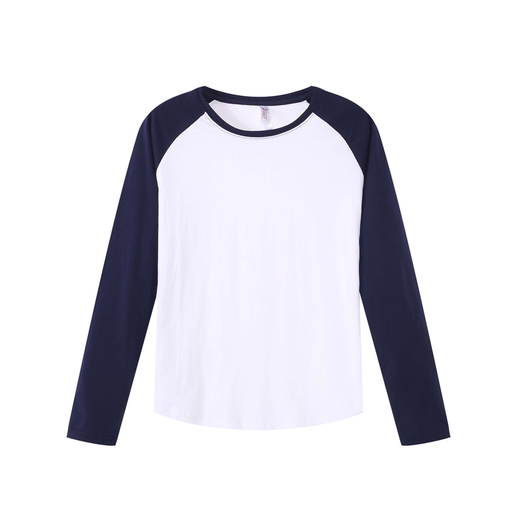 WOMENS Raglan L/S Top - Navy