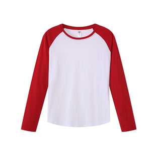 WOMENS Raglan L/S Top - Red