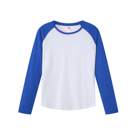 WOMENS Raglan L/S Top - Royal Blue
