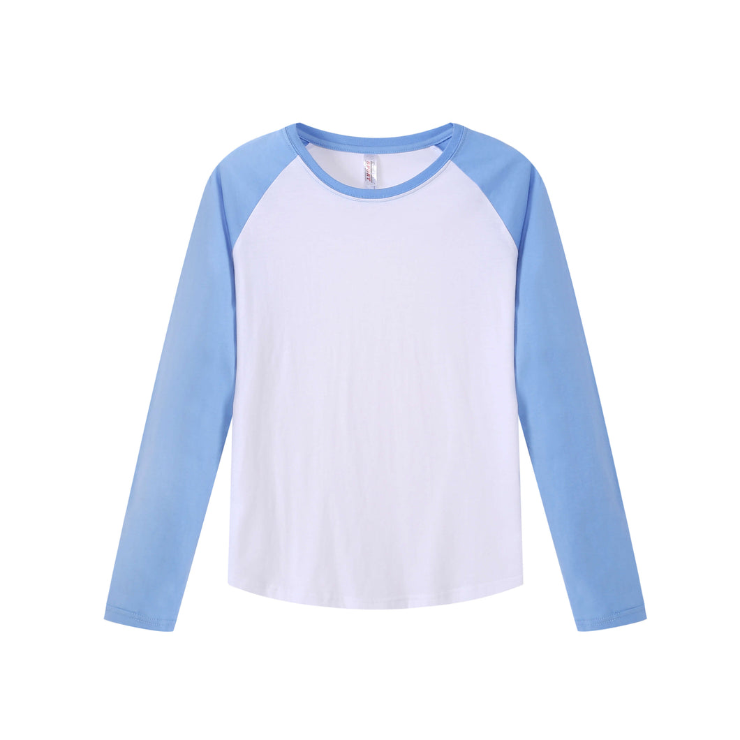 WOMENS Raglan L/S Top - Sky Blue