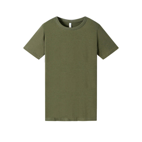 WOMENS Bamboo Cotton S/S Tee | UPF Protection Shirt - Khaki Green