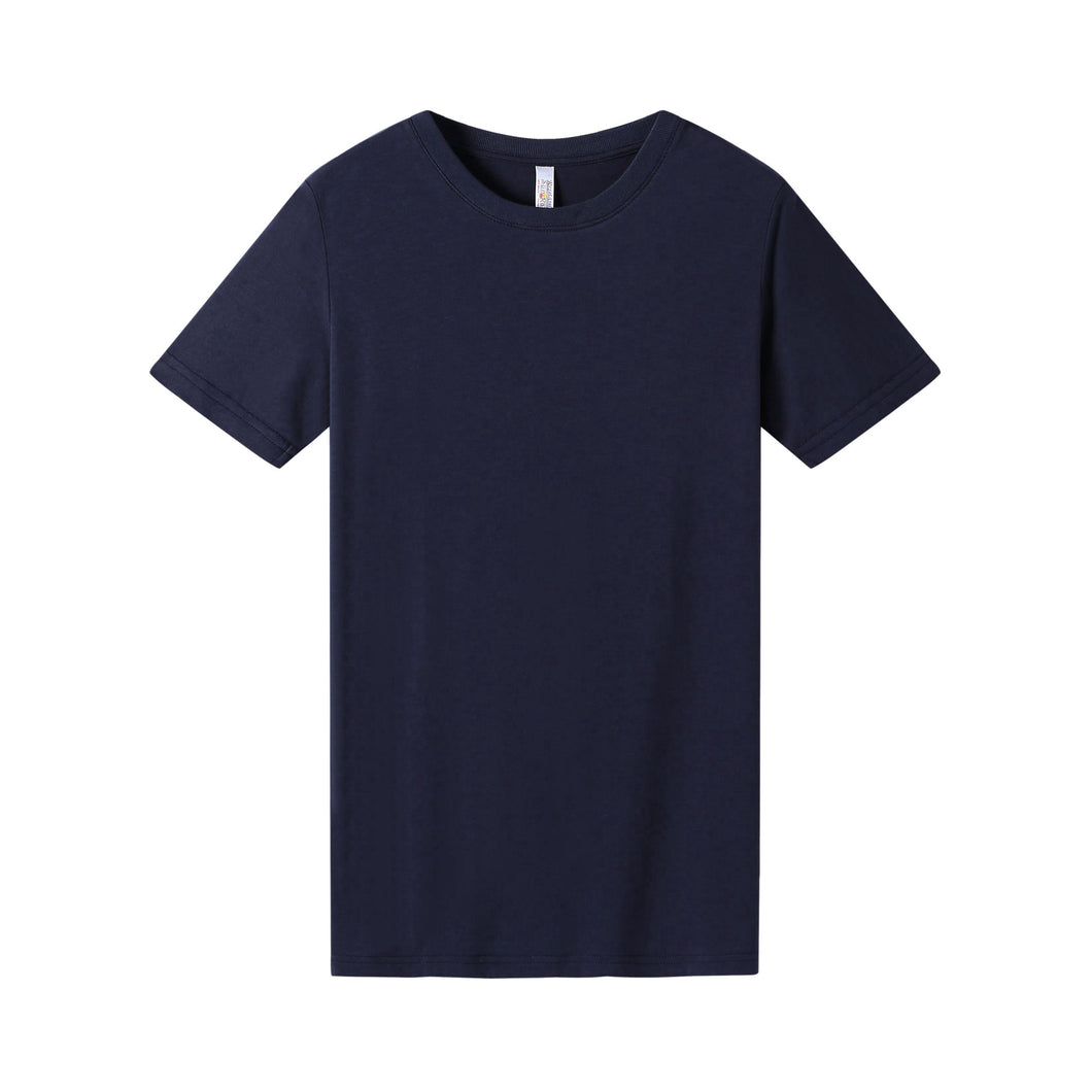 WOMENS Bamboo Cotton S/S Tee | UPF Protection Shirt - Navy